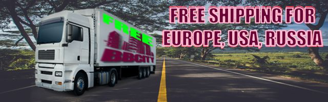"""Enjoy """"FREE SHIPPING"""", excluding """"Remote Areas"""", for Europe, USA, Russia with """"tracking number"""". Learn more on our Terms&Conditions."""