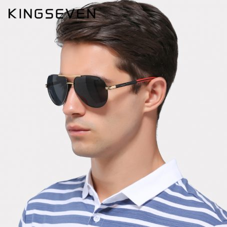 KINGSEVEN Gafas de sol polarizadas de aluminio para hombre 3