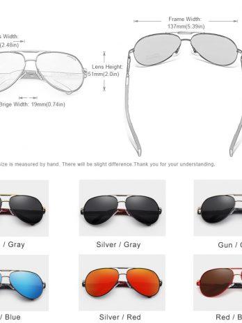 KINGSEVEN Gafas de sol polarizadas de aluminio para hombre