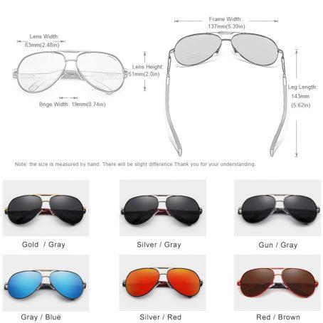 KINGSEVEN Gafas de sol polarizadas de aluminio para hombre 5