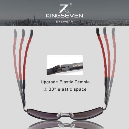 KINGSEVEN Gafas de sol polarizadas de aluminio para hombre 6