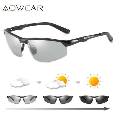 Gafas de sol fotocromáticas hombre gafas de camaleón polarizadas para hombre cambio de Color HD de visión nocturna para conducir gafas 3