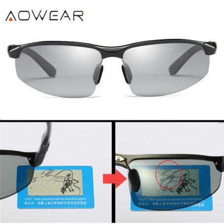 Gafas de sol fotocromáticas hombre gafas de camaleón polarizadas para hombre cambio de Color HD de visión nocturna para conducir gafas 5
