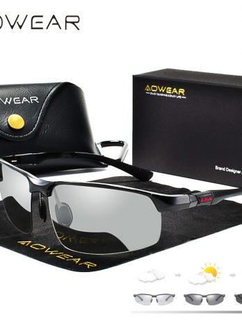 Gafas de sol fotocromáticas hombre gafas de camaleón polarizadas para hombre cambio de Color HD de visión nocturna para conducir gafas