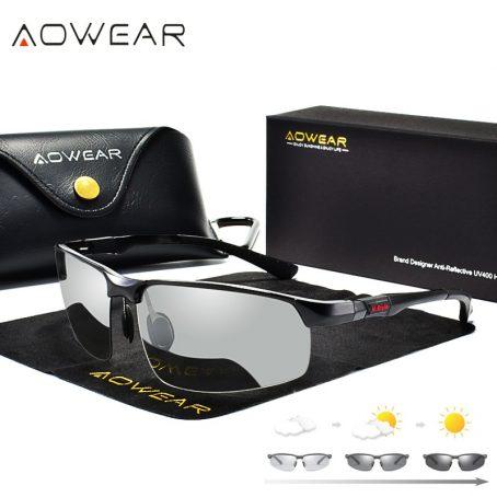Gafas de sol fotocromáticas hombre gafas de camaleón polarizadas para hombre cambio de Color HD de visión nocturna para conducir gafas 2